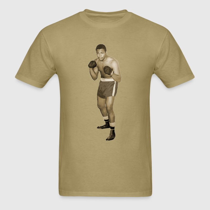 Vintage African American Boxer in Boxing Pose T-Shirts - Men's T-Shirt