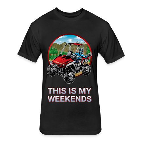 UTV Weekend Waver - Fitted Cotton/Poly T-Shirt by Next Level