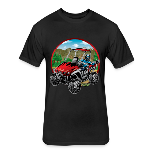 Mountain Side-x-Side - Fitted Cotton/Poly T-Shirt by Next Level