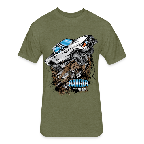 White Ford Ranger - Fitted Cotton/Poly T-Shirt by Next Level
