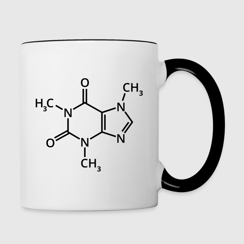 Coffee chemical formula chemistry espresso drink Bottles & Mugs - Contrast Coffee Mug