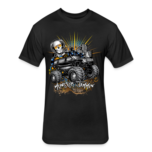 Monster Cadillac Escalade Shirt - Fitted Cotton/Poly T-Shirt by Next Level