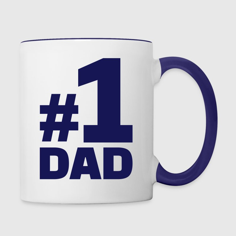No. 1 Dad Bottles & Mugs - Contrast Coffee Mug