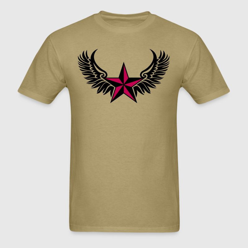 Nautical Star Wings, Tattoo Style, Protection Sign T-Shirts - Men's T-Shirt