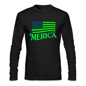 Merica - Men's Long Sleeve T-Shirt by Next Level