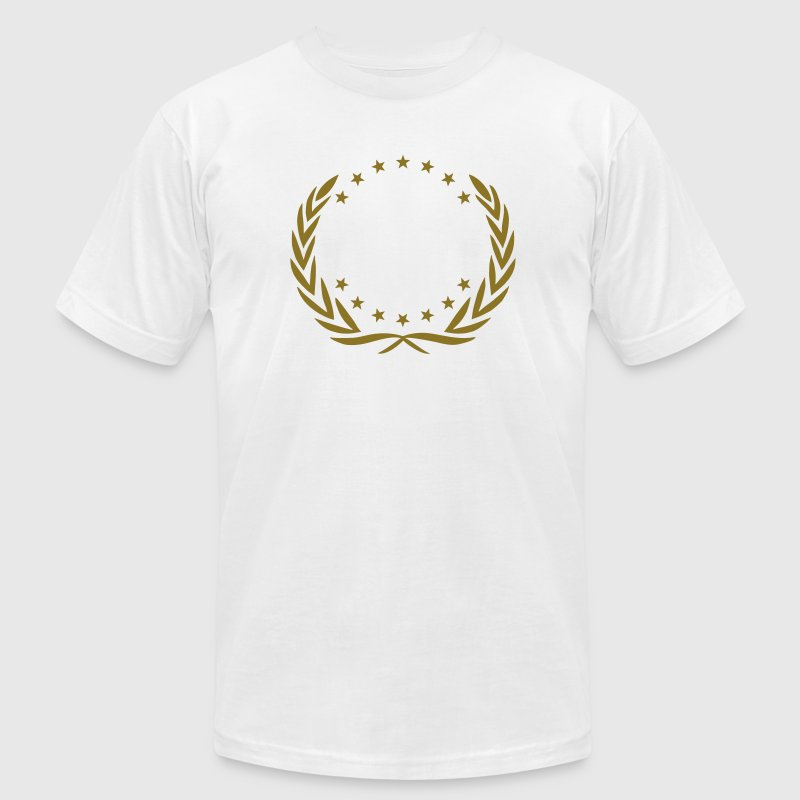Laurel Wreath Star Winner Award Sports Team Best   T-Shirts - Men's T-Shirt by American Apparel