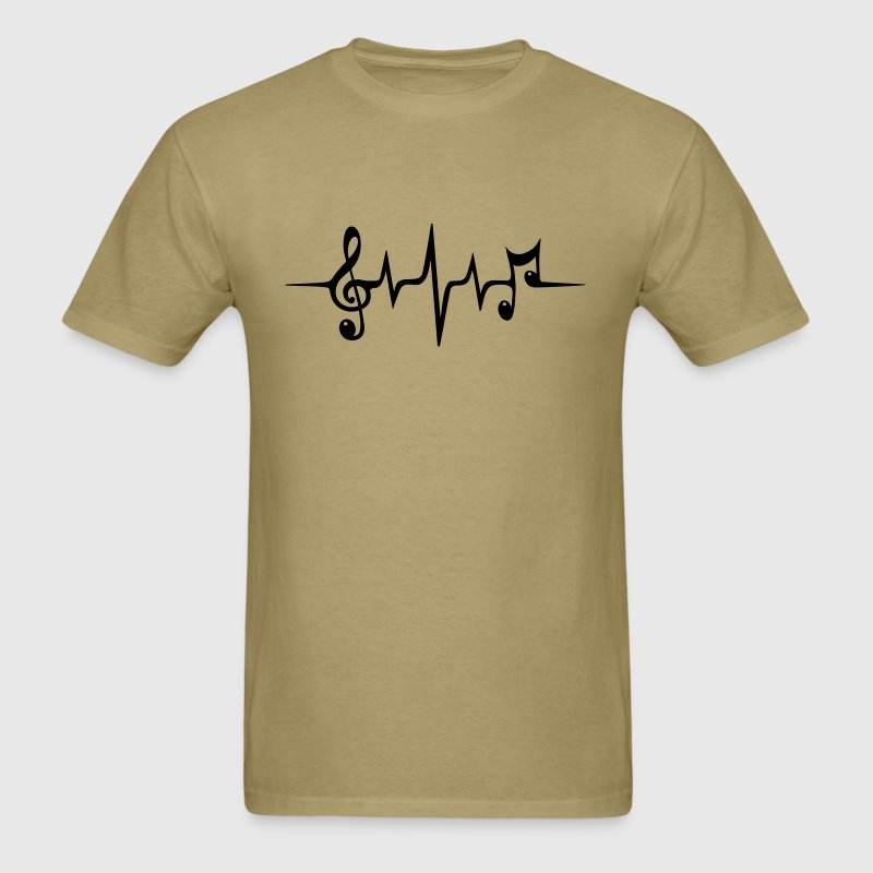 Heart Rate Pulse Music Note Clef Electro Classic T-Shirts - Men's T-Shirt