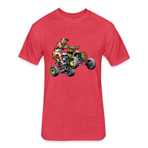 ATV Racing T-Shirt - Fitted Cotton/Poly T-Shirt by Next Level