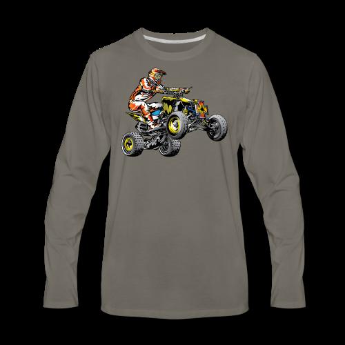 ATV Racing T-Shirt - Men's Premium Long Sleeve T-Shirt