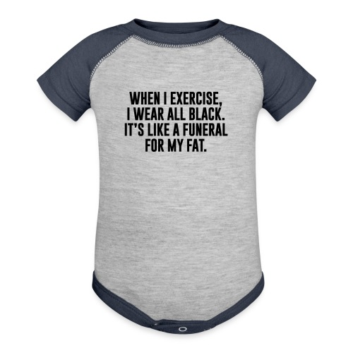 Fat Funeral Tee - Contrast Baby Bodysuit