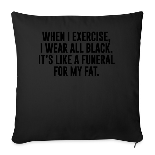 """Fat Funeral Tee - Throw Pillow Cover 18"""" x 18"""""""