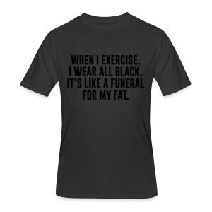 Fat Funeral Tee - Men's 50/50 T-Shirt