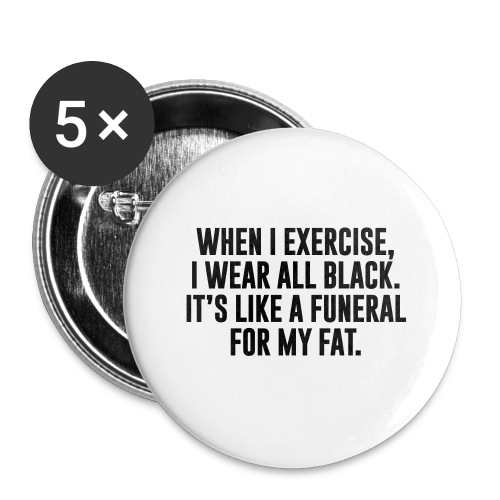 Fat Funeral Tee - Buttons large 2.2'' (5-pack)