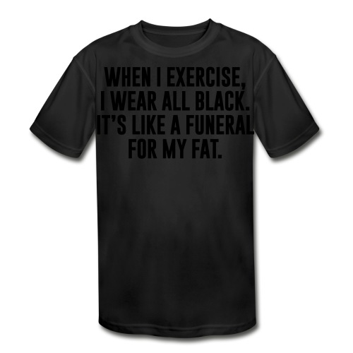 Fat Funeral Tee - Kids' Moisture Wicking Performance T-Shirt