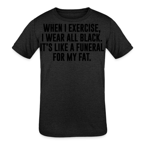 Fat Funeral Tee - Kids' Tri-Blend T-Shirt