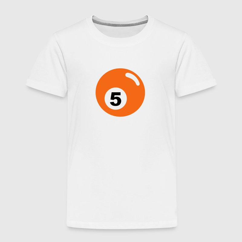 Billiard ball No. 5 -orange - V2 T-Shirt Baby & Toddler Shirts - Toddler Premium T-Shirt