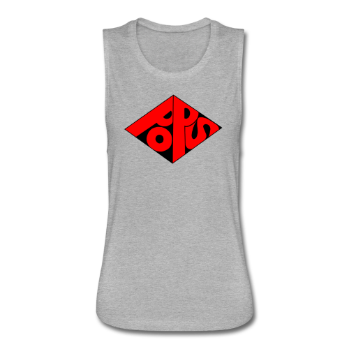 PoPS Logo Men's T-Shirt - American Apparel - Women's Flowy Muscle Tank by Bella