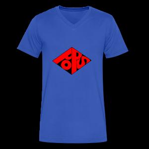 PoPS Logo Men's T-Shirt - American Apparel - Men's V-Neck T-Shirt by Canvas