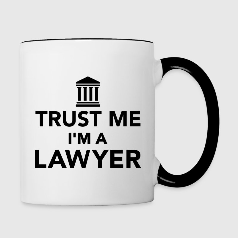 Trust me I'm a Lawyer Bottles & Mugs - Contrast Coffee Mug