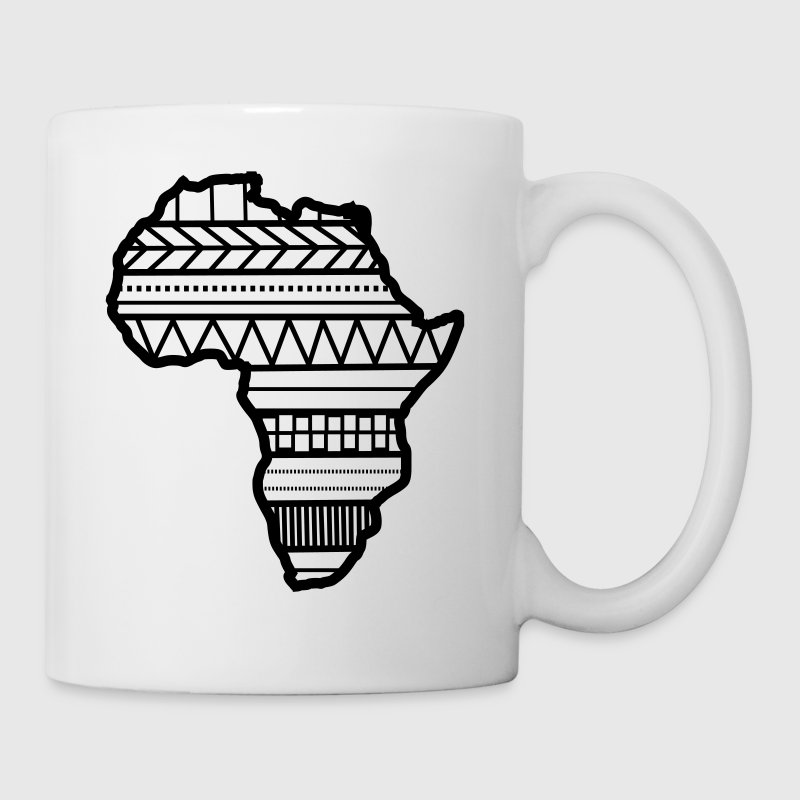 Africa pattern on map - Coffee/Tea Mug