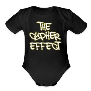 Black TCE Logo Shirt (YELLOW) - Short Sleeve Baby Bodysuit
