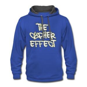 Blue TCE Logo Shirt (YELLOW) - Contrast Hoodie