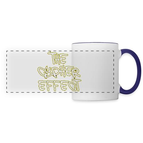 Blue TCE Logo Shirt (YELLOW) - Panoramic Mug