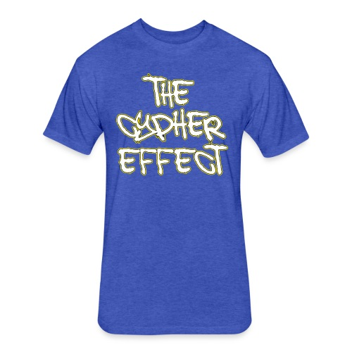 Blue TCE Logo Shirt (YELLOW) - Fitted Cotton/Poly T-Shirt by Next Level
