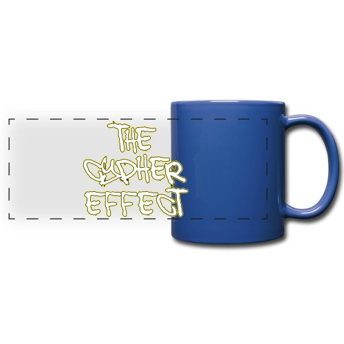 Blue TCE Logo Shirt (YELLOW) - Full Color Panoramic Mug