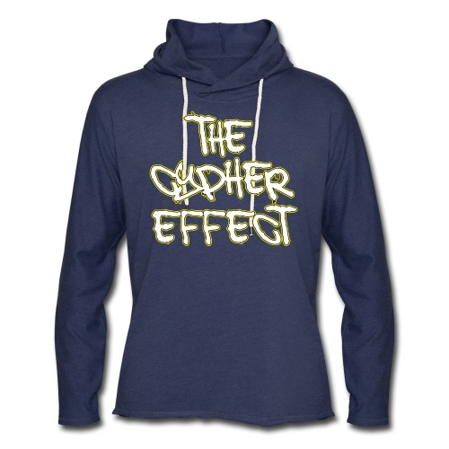 Blue TCE Logo Shirt (YELLOW) - Unisex Lightweight Terry Hoodie