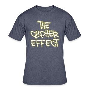 Blue TCE Logo Shirt (YELLOW) - Men's 50/50 T-Shirt