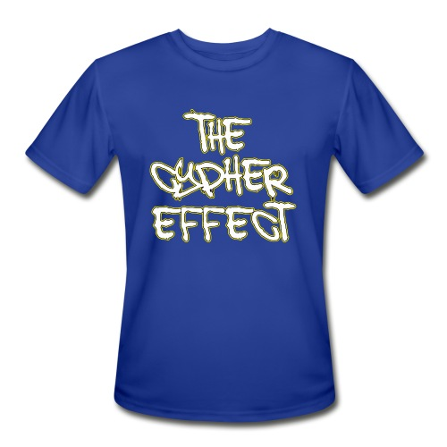 Blue TCE Logo Shirt (YELLOW) - Men's Moisture Wicking Performance T-Shirt