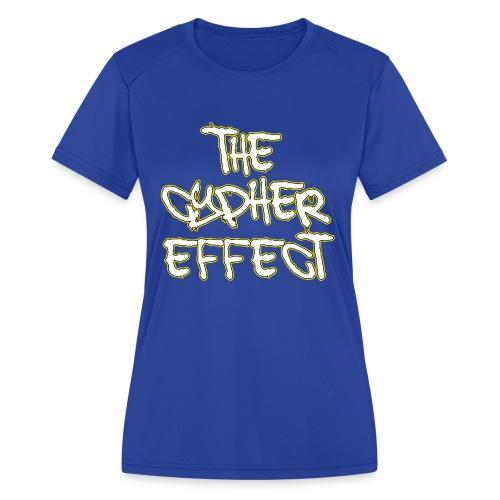 Blue TCE Logo Shirt (YELLOW) - Women's Moisture Wicking Performance T-Shirt
