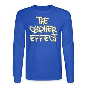 Blue TCE Logo Shirt (YELLOW) - Men's Long Sleeve T-Shirt