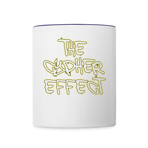 Blue TCE Logo Shirt (YELLOW) - Contrast Coffee Mug