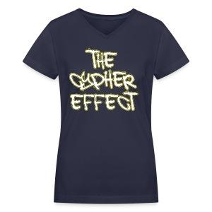 Blue TCE Logo Shirt (YELLOW) - Women's V-Neck T-Shirt