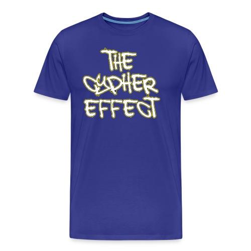 Blue TCE Logo Shirt (YELLOW) - Men's Premium T-Shirt