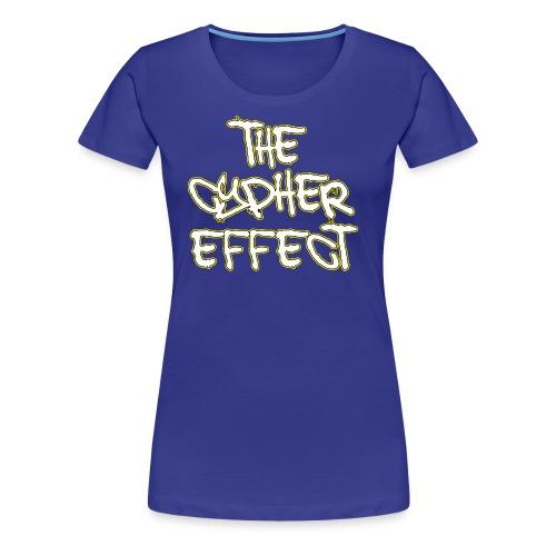Blue TCE Logo Shirt (YELLOW) - Women's Premium T-Shirt