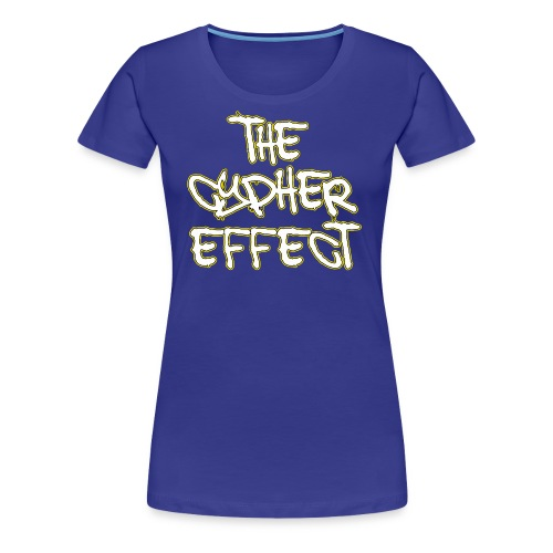 Blue TCE Logo Shirt (YELLOW) - Women's Premium T-Shirt