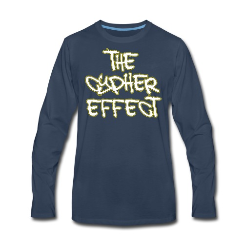 Blue TCE Logo Shirt (YELLOW) - Men's Premium Long Sleeve T-Shirt