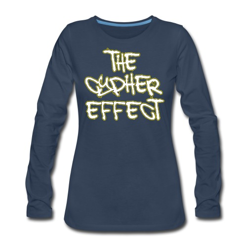 Blue TCE Logo Shirt (YELLOW) - Women's Premium Long Sleeve T-Shirt