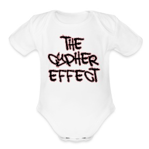 White TCE Logo Shirt (RED) - Short Sleeve Baby Bodysuit