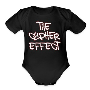 Black TCE Logo Shirt (RED) - Short Sleeve Baby Bodysuit