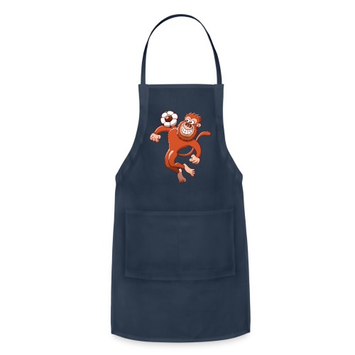 Monkey Trapping a Soccer Ball with its Chest Hoodies - Adjustable Apron