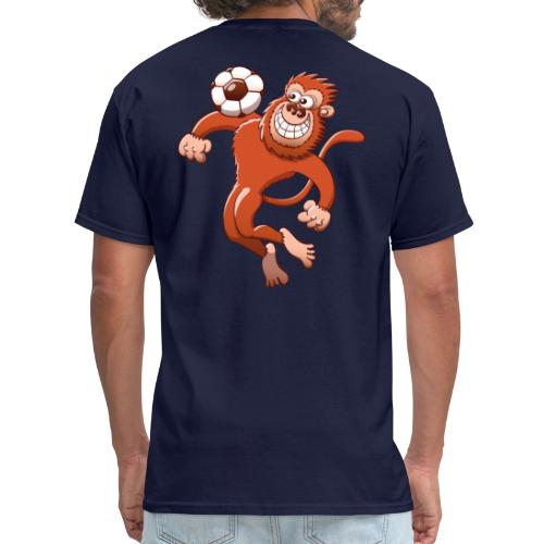 Monkey Trapping a Soccer Ball with its Chest Hoodies - Men's T-Shirt