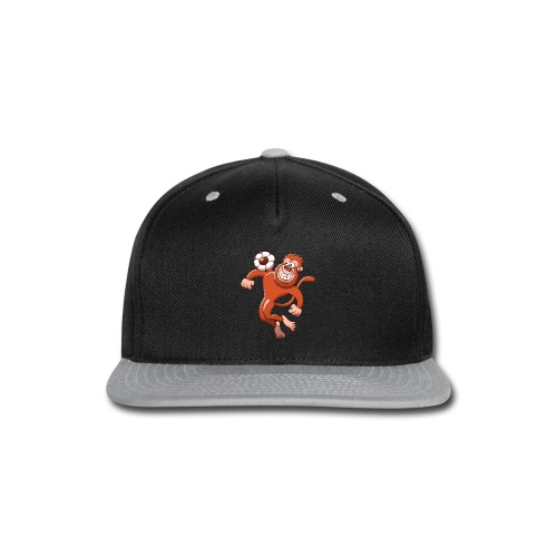 Monkey Trapping a Soccer Ball with its Chest Hoodies - Snap-back Baseball Cap