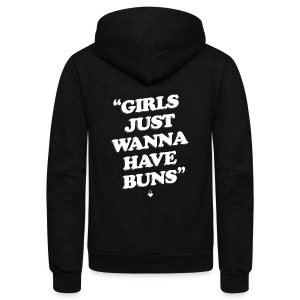 Girls Just Wanna Have Buns - Womens Tank - Unisex Fleece Zip Hoodie by American Apparel
