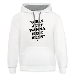 Girls Just Wanna Have Buns - Womens Tank - Contrast Hoodie