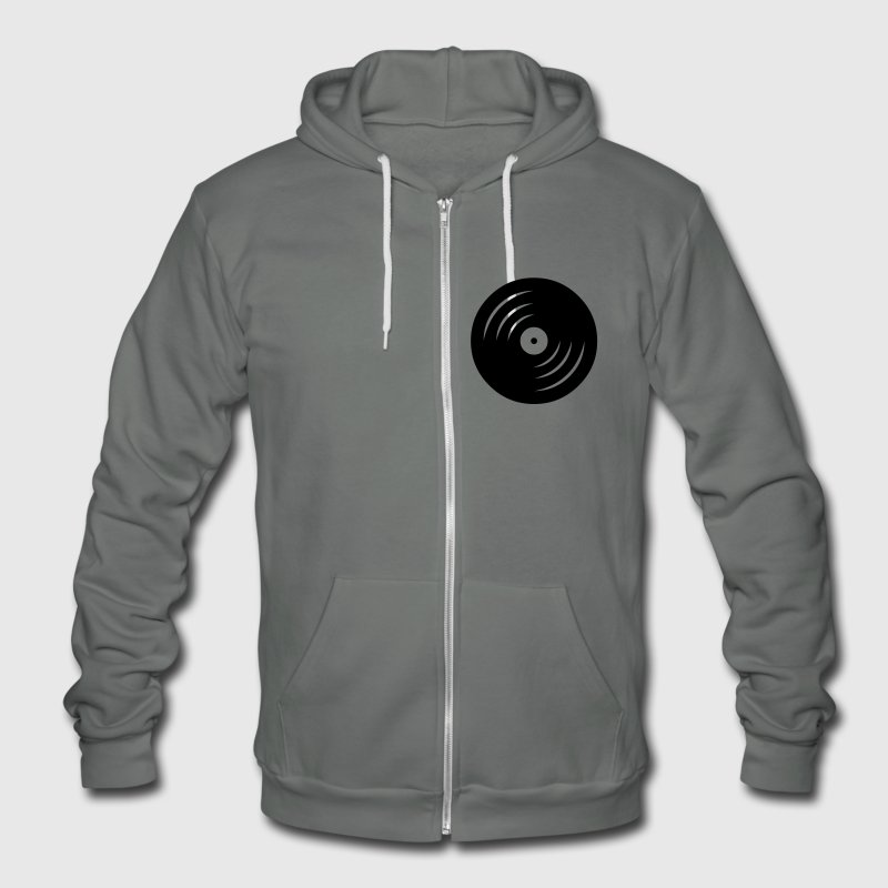 vinyl Zip Hoodies & Jackets - Unisex Fleece Zip Hoodie by American Apparel