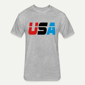 USA - Fitted Cotton/Poly T-Shirt by Next Level